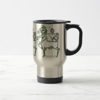 Celtic Mug, Herne Deer Design Stainless Steel Travel Mug