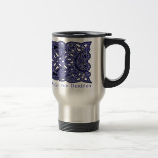 Celtic Mug, Knotwork Hounds Design Stainless Steel Travel Mug