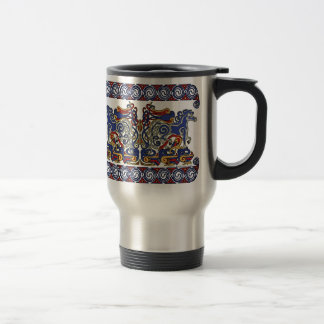 Celtic Mugs, Horses & Birds Design #2 Stainless Steel Travel Mug