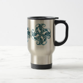 Celtic Mugs, Zoomorphic Crane Stainless Steel Travel Mug