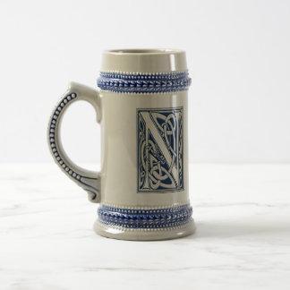 Celtic N Monogram 18 Oz Beer Stein