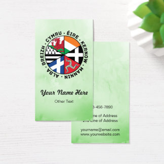 Celtic Nations Flags Custom Business Cards