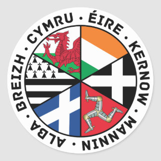 Celtic Nations Flags Round Sticker
