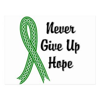 Celtic Never Give Up Hope Bile Duct Cancer Postcard