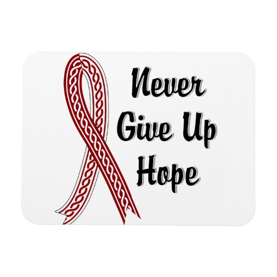 Celtic Never Give Up Hope Head and Neck Cancer Magnet