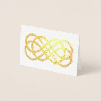 Celtic Neverending Knot - blank inside Foil Card