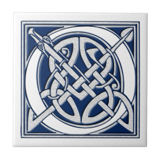 Celtic O Monogram Small Square Tile