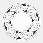 Celtic ornament round sticker