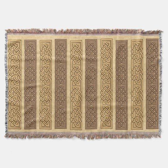 Celtic Ornamental Borders Throw Blanket