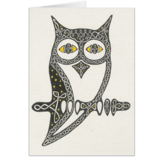 Celtic Owl Card