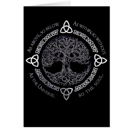 Celtic Pagan Tree Wiccan Greeting Card
