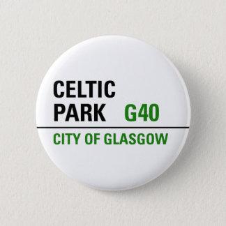 Celtic Park Street Sign 6 Cm Round Badge