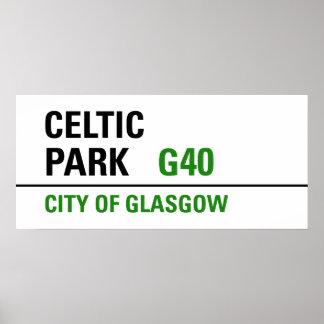 Celtic Park Street Sign Poster