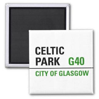 Celtic Park Street Sign Square Magnet