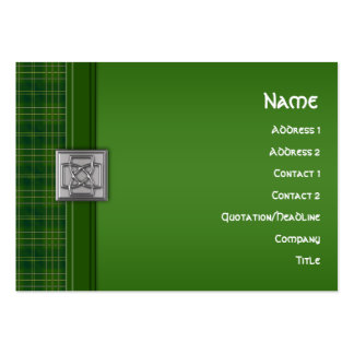 Celtic Patriot Tartan in Green & Celtic Knot Pin Pack Of Chubby Business Cards