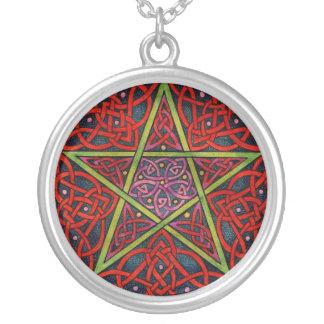 Celtic Pentagram Silver Plated Necklace