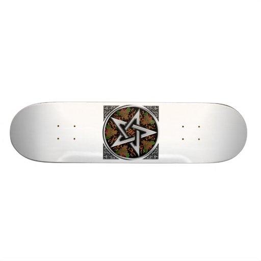 Celtic Pentagram Skateboard