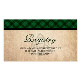 Celtic Plaid Wedding Registry Card Pack Of Standard Business Cards