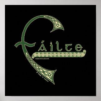 Celtic Print Failte Welcome Design