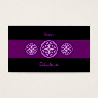 Celtic Profile Card - Purple and Black 4