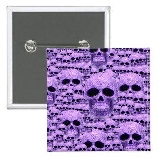 Celtic purple skull collage 15 cm square badge