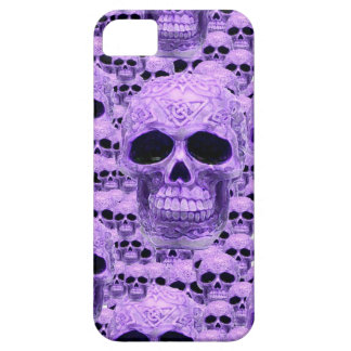 Celtic purple skull collage iPhone 5 case