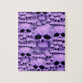 Celtic purple skull collage jigsaw puzzle