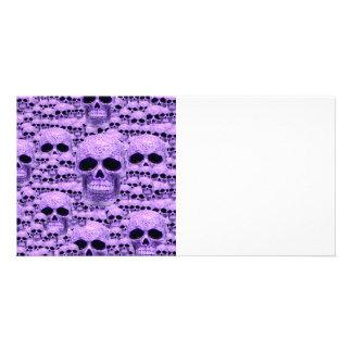 Celtic purple skull collage photo cards