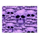 Celtic purple skull collage postcards