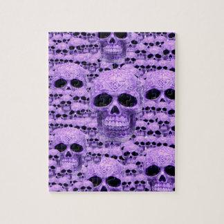 Celtic purple skull collage puzzle