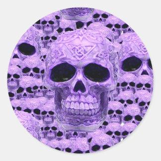 Celtic purple skull collage sticker