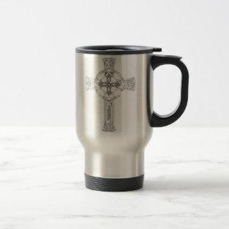 """Celtic Quest """"Cross"""" Travel Mug"""