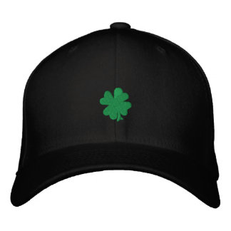 "Celtic Quest ""Green Clover"" FlexFit Hat Embroidered Baseball Cap"