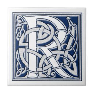 Celtic R Monogram Small Square Tile