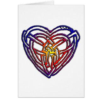Celtic Rainbow Heart Greeting Card