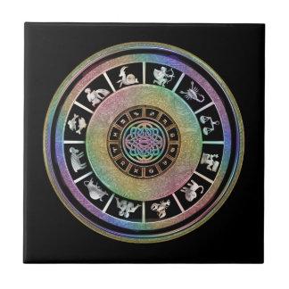 Celtic Rainbow Zodiac Mandala Tile