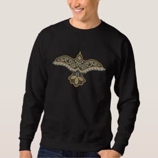 Celtic Raven Embroidered Sweatshirt