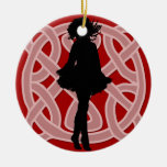 Celtic Red Dancer Ornament