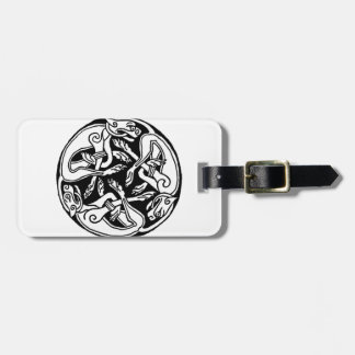 Celtic rond chien luggage tag