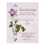 Celtic Rose Wedding Personalized Announcement