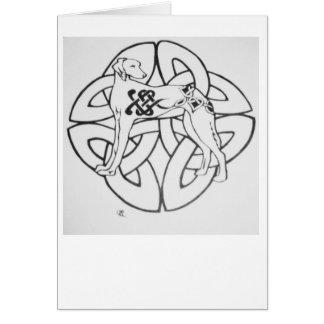 Celtic Saluki Card
