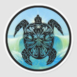 Celtic Sea Turtle Round Sticker