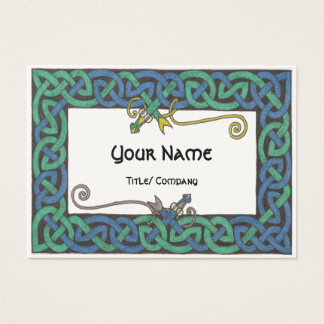 Celtic Serpent chubby business cards
