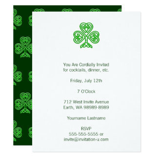 Celtic Shamrock 11 Cm X 14 Cm Invitation Card
