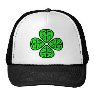 Celtic Shamrock 4 Leaf Cap
