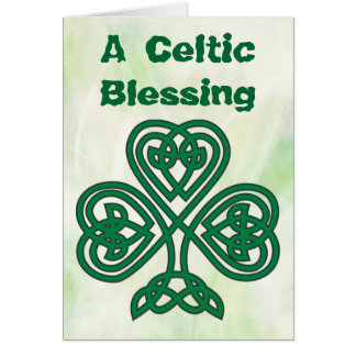 Celtic shamrock blessing greeting card