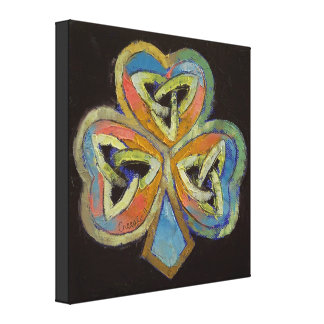Celtic Shamrock Canvas Print