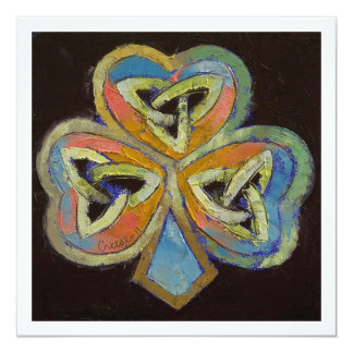 Celtic Shamrock Card
