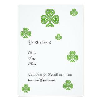 Celtic Shamrock Design 13 Cm X 18 Cm Invitation Card