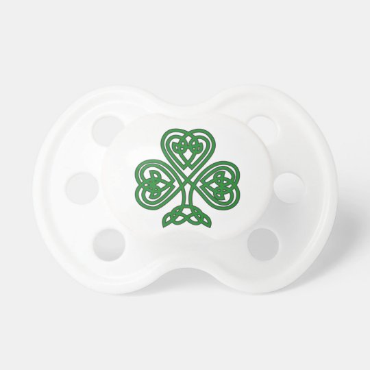 Celtic Shamrock design baby pacifier